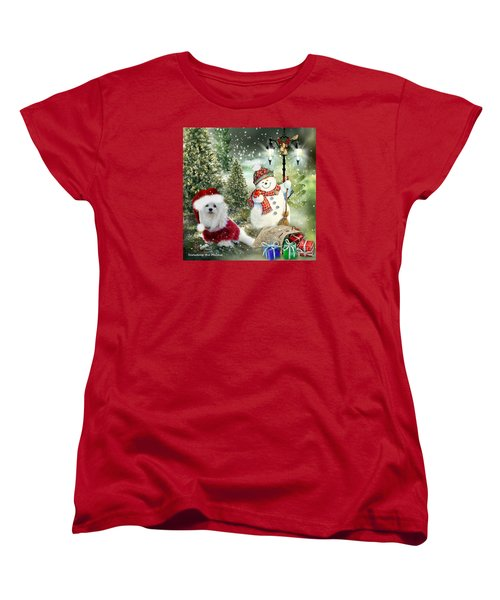 Snowdrop And The Snowman Women's T-Shirt (Standard Cut) by Morag Bates