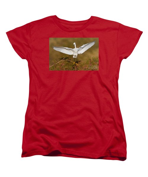 Women's T-Shirt (Standard Cut) featuring the photograph Snowy Wingspread by Bryan Keil
