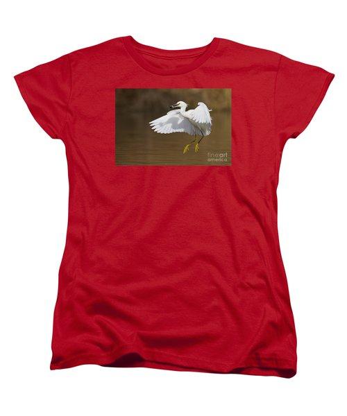 Snowy With A Fish Women's T-Shirt (Standard Cut) by Bryan Keil
