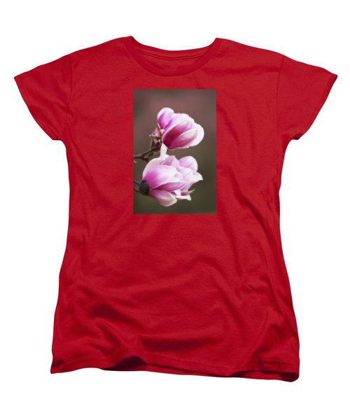 Soft Magnolia Blossoms Women's T-Shirt (Standard Cut) by Shelly Gunderson