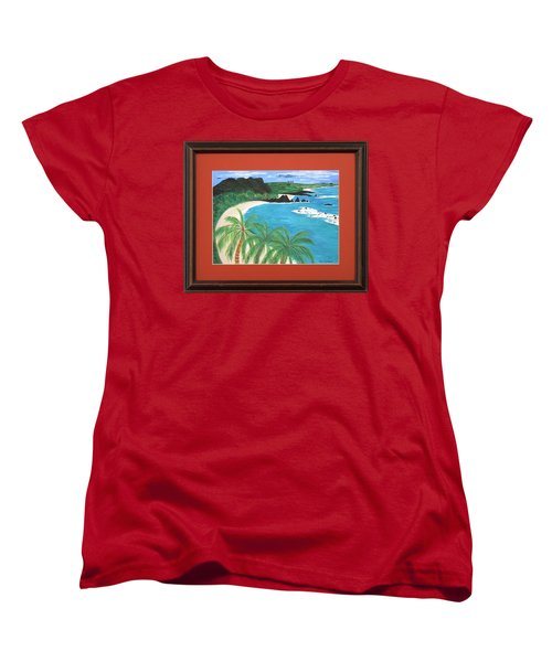 Women's T-Shirt (Standard Cut) featuring the painting South Pacific by Ron Davidson