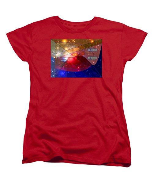 Space Odyssey 08 Women's T-Shirt (Standard Cut) by Ron Davidson