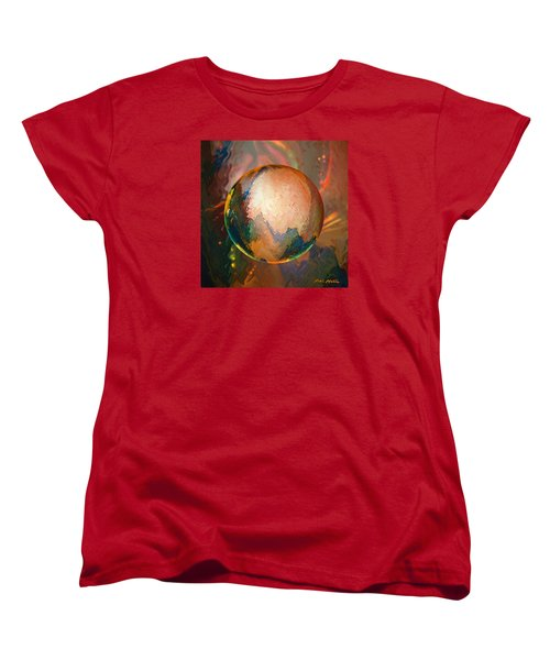 Women's T-Shirt (Standard Cut) featuring the digital art Sphering Lunar Vibrations by Robin Moline