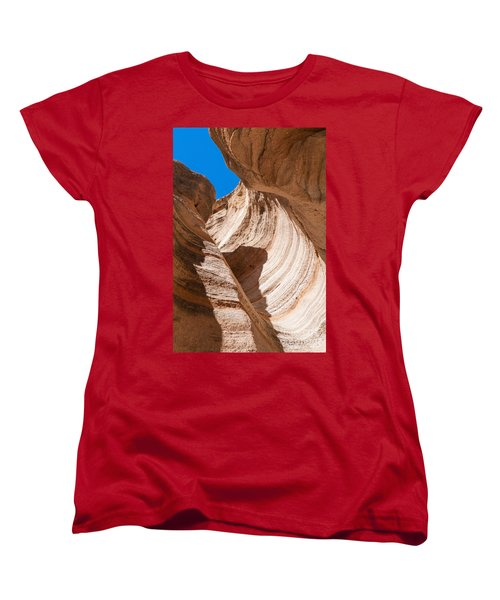 Women's T-Shirt (Standard Cut) featuring the photograph Spiral At Tent Rocks by Roselynne Broussard