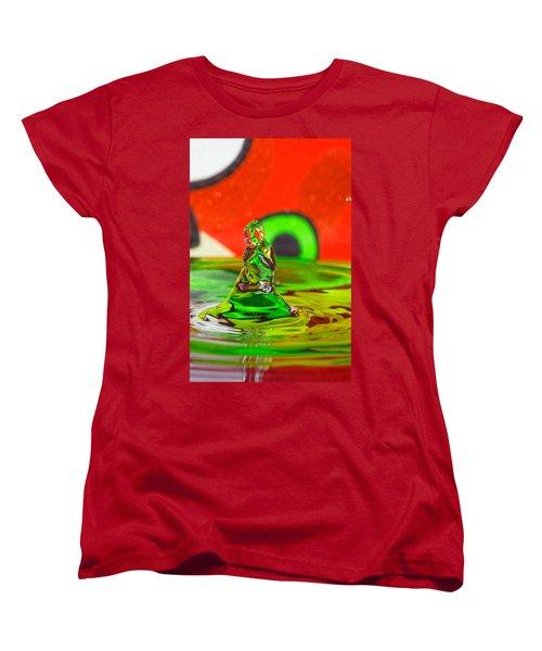 Women's T-Shirt (Standard Cut) featuring the photograph Splas by Peter Lakomy