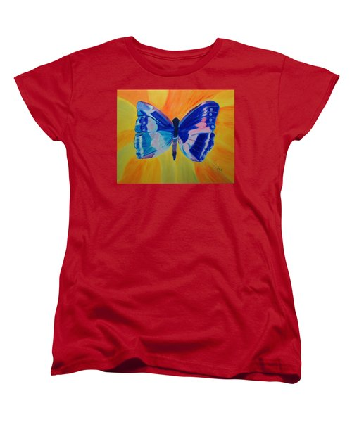 Women's T-Shirt (Standard Cut) featuring the painting Spreading My Wings by Meryl Goudey