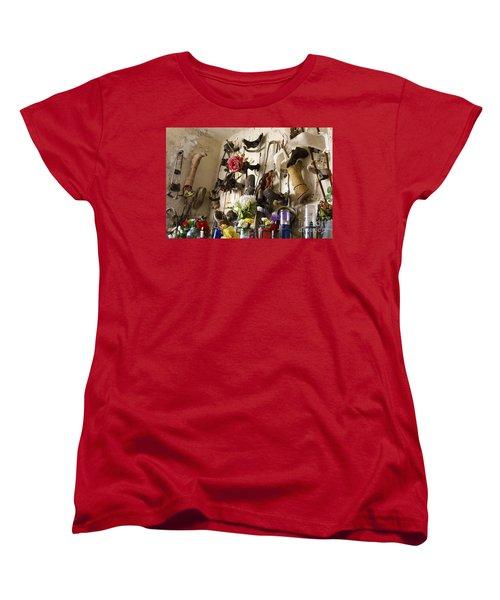 Women's T-Shirt (Standard Cut) featuring the photograph New Orleans St Roch Cemetery by Luana K Perez