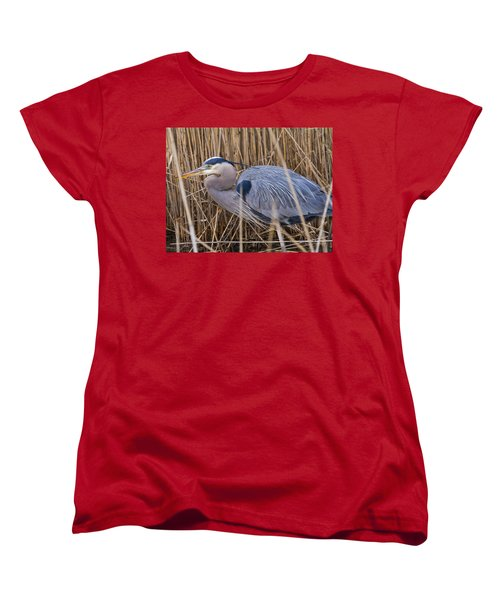 Stalking Fish In The Reeds Women's T-Shirt (Standard Cut) by Allan Levin