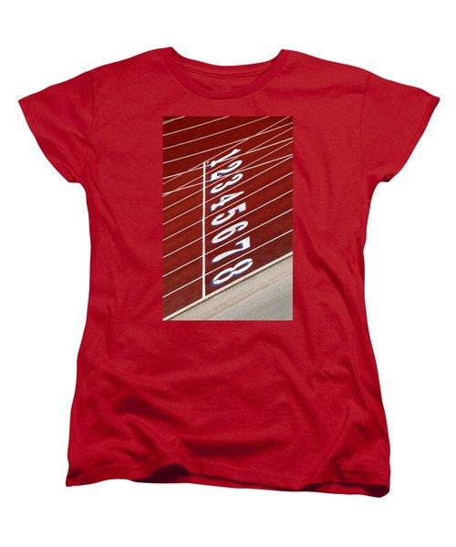 Track Starting Line Women's T-Shirt (Standard Cut) by Phil Cardamone