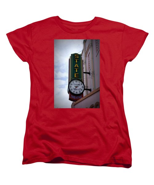 State Theatre Sign Women's T-Shirt (Standard Cut) by Laurie Perry
