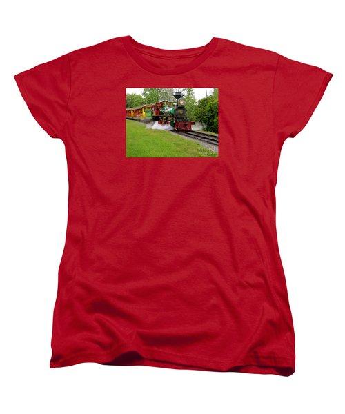 Women's T-Shirt (Standard Cut) featuring the photograph Steam Train by Joy Hardee