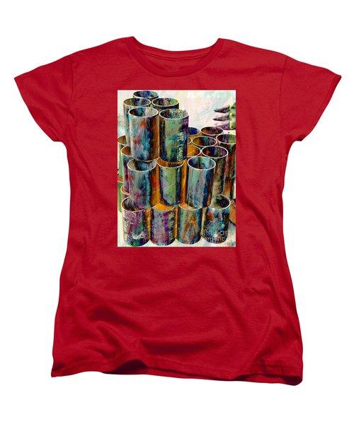 Steel Pipes Women's T-Shirt (Standard Cut) by Lilliana Mendez