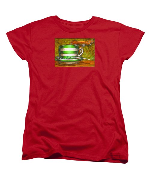Still Life With Green Stripes And Saddle  Women's T-Shirt (Standard Cut)