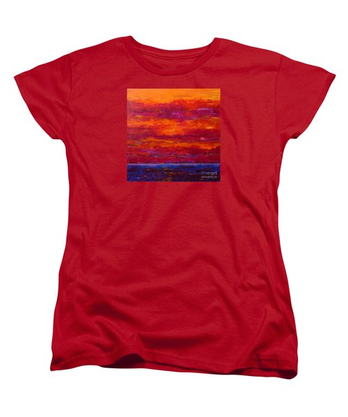 Storm Clouds Sunset Women's T-Shirt (Standard Cut) by Gail Kent