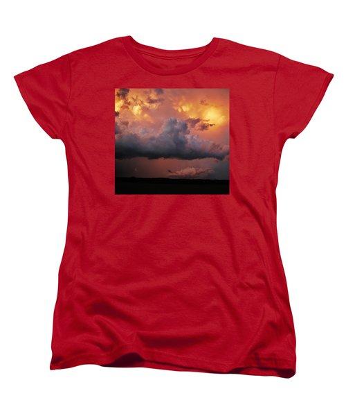 Stormy Sunset Women's T-Shirt (Standard Cut) by Ed Sweeney