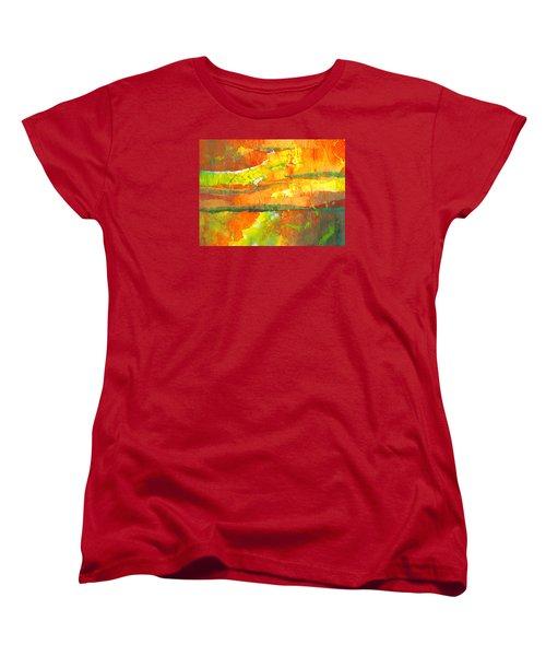 Strata Women's T-Shirt (Standard Cut) by Lynda Hoffman-Snodgrass
