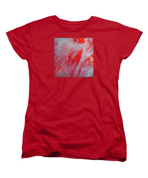 Women's T-Shirt (Standard Cut) featuring the painting Strawberry Ice Cream by Dragica  Micki Fortuna