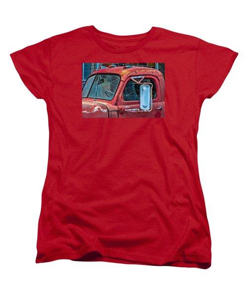 Women's T-Shirt (Standard Cut) featuring the photograph Strong City Red by Steven Bateson