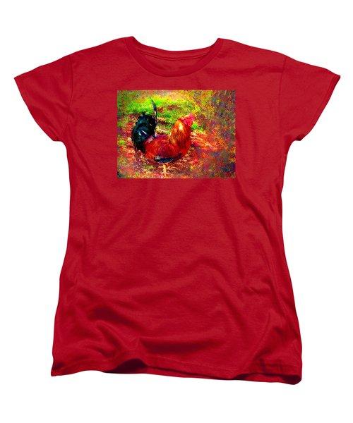 Strutting In Living Color Women's T-Shirt (Standard Cut) by Joyce Dickens