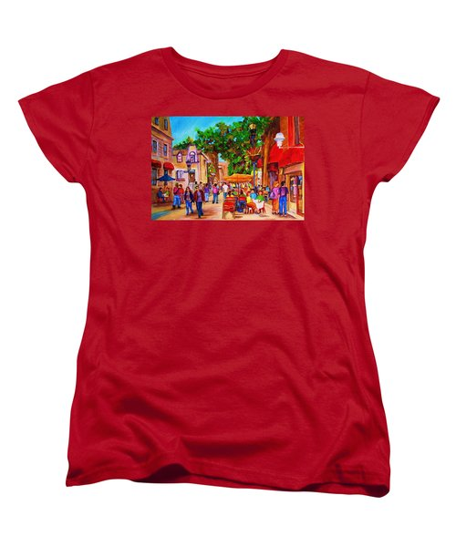 Summer Cafes Women's T-Shirt (Standard Cut) by Carole Spandau