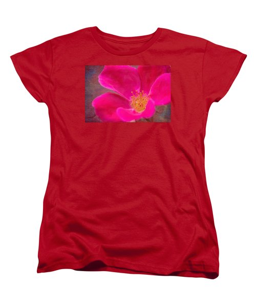 Summer Delight My Pink Rose Women's T-Shirt (Standard Cut) by Denyse Duhaime