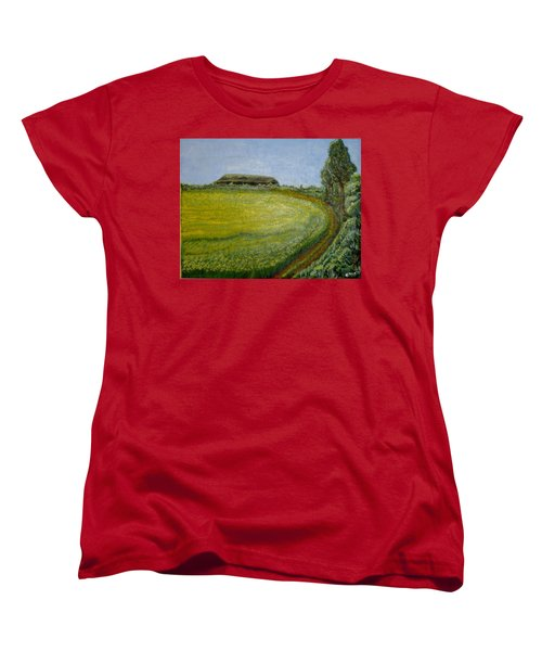 Summer In Canola Field Women's T-Shirt (Standard Cut) by Felicia Tica