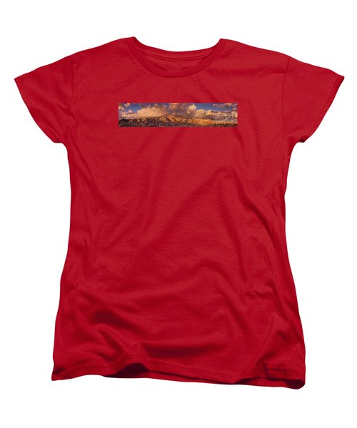 Women's T-Shirt (Standard Cut) featuring the photograph Summer Storm Clouds Over The Eastern Sierras California by Dave Welling