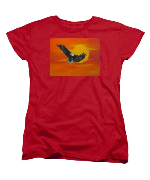Women's T-Shirt (Standard Cut) featuring the painting Sun Riser by Wendy Shoults