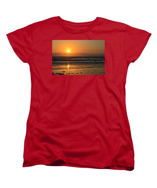 Women's T-Shirt (Standard Cut) featuring the photograph Sundays Golden Sunrise by DigiArt Diaries by Vicky B Fuller