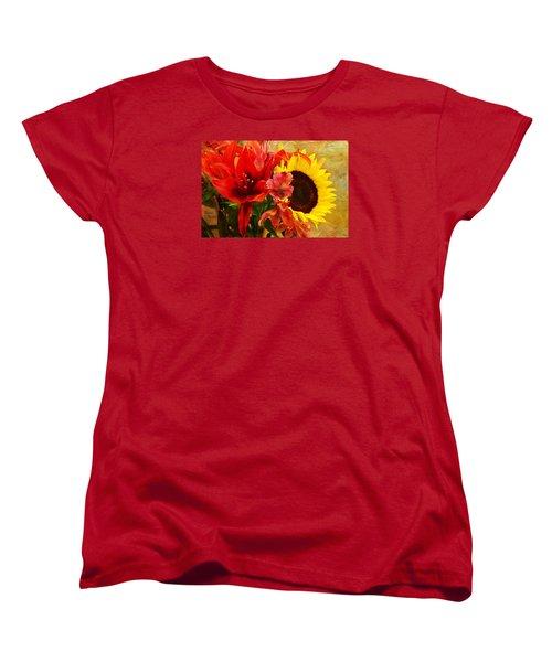 Sunflower Bouquet Women's T-Shirt (Standard Cut) by Sandi OReilly