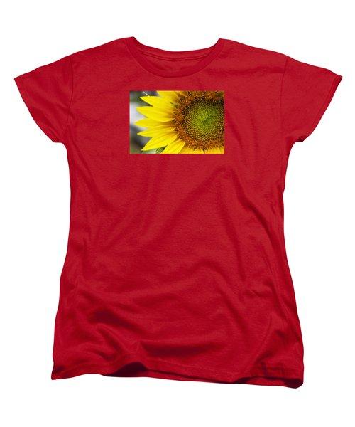 Sunflower Face Women's T-Shirt (Standard Cut) by Shelly Gunderson