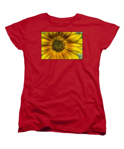 Sunflower In Oil Paint Women's T-Shirt (Standard Cut)