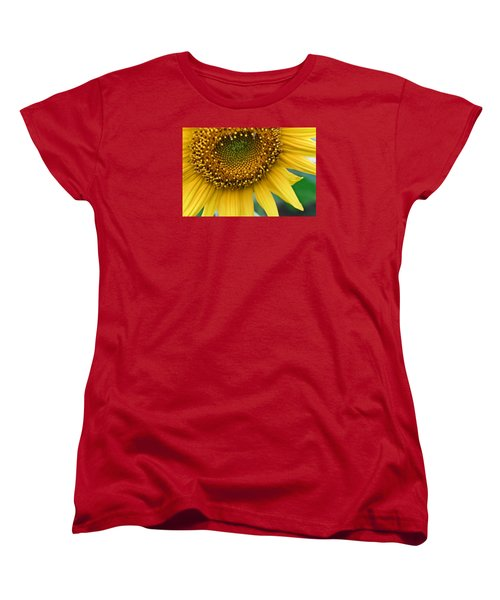 Women's T-Shirt (Standard Cut) featuring the photograph Sunflower Smiles by Julie Andel