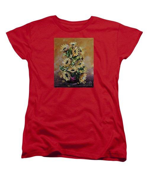 Sunflowers For You Women's T-Shirt (Standard Cut) by Teresa Wegrzyn