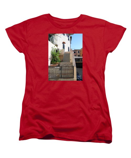 Women's T-Shirt (Standard Cut) featuring the photograph Sunny Tuscany Village by Ramona Matei