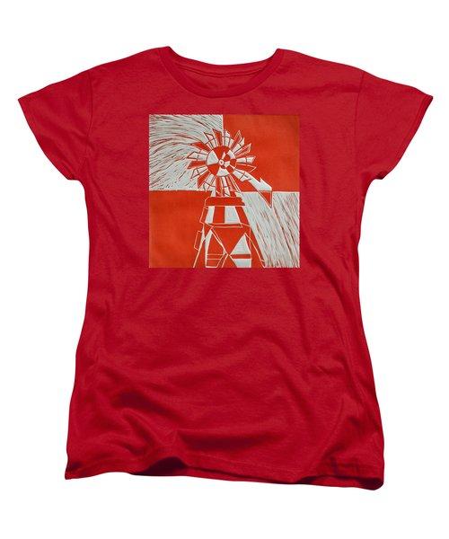 Sunny Windmill Women's T-Shirt (Standard Cut) by Verana Stark