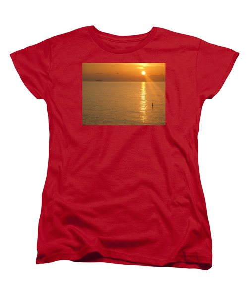 Sunrise At Sea Women's T-Shirt (Standard Cut) by Photographic Arts And Design Studio