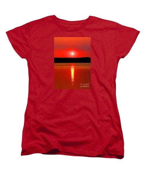Sunrise Over Whidbey Island Women's T-Shirt (Standard Cut)