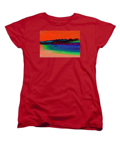Sunset By The Lake Women's T-Shirt (Standard Cut) by David Pantuso