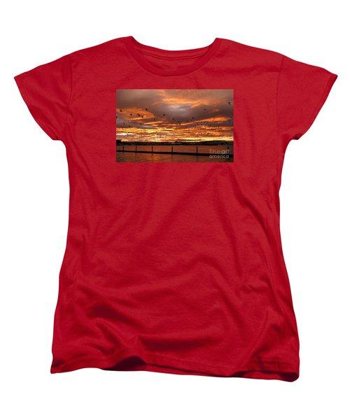 Sunset In Tauranga New Zealand Women's T-Shirt (Standard Cut) by Jola Martysz