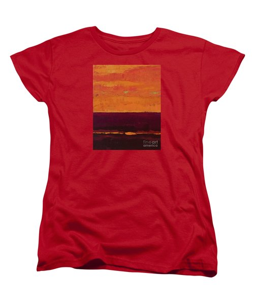 Sunset On The Pier Women's T-Shirt (Standard Cut) by Gail Kent