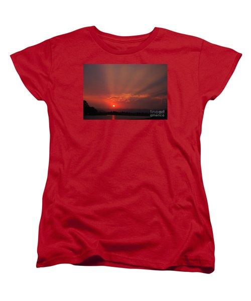 Sunset Over Hope Island 2 Women's T-Shirt (Standard Cut) by Blair Stuart