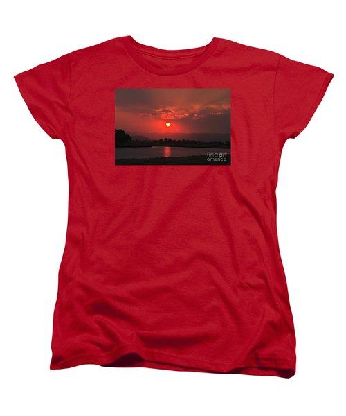 Sunset Over Hope Island Women's T-Shirt (Standard Cut) by Blair Stuart