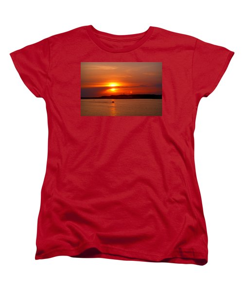 Sunset Over Lake Ozark Women's T-Shirt (Standard Cut) by Cricket Hackmann