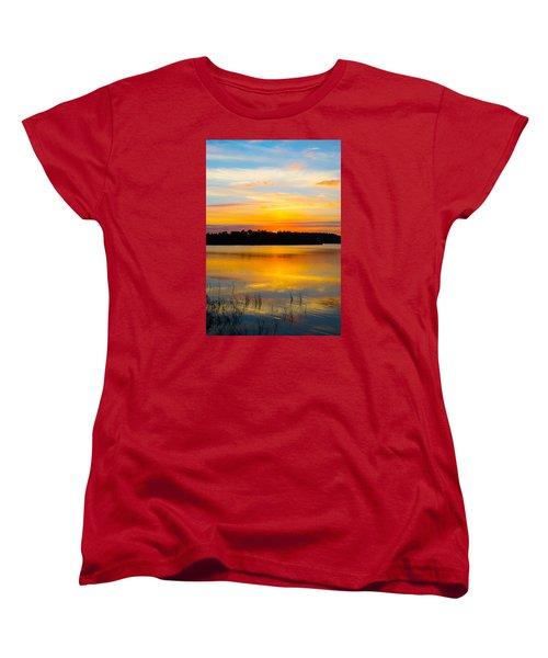 Sunset Over The Lake Women's T-Shirt (Standard Cut) by Parker Cunningham
