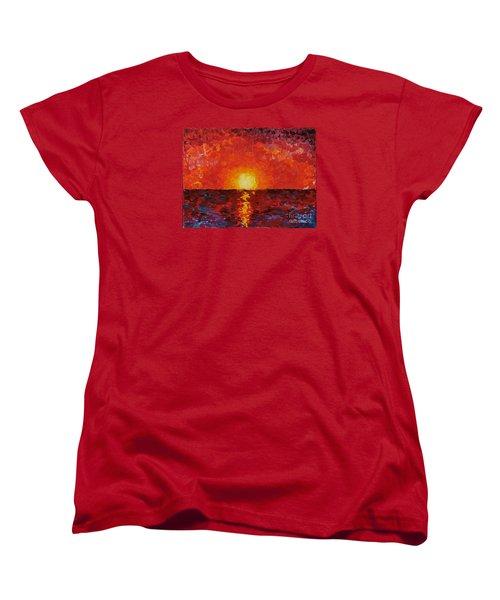 Sunset Women's T-Shirt (Standard Cut) by Teresa Wegrzyn