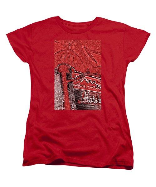 Women's T-Shirt (Standard Cut) featuring the photograph Super Grainy Marshall by Bartz Johnson