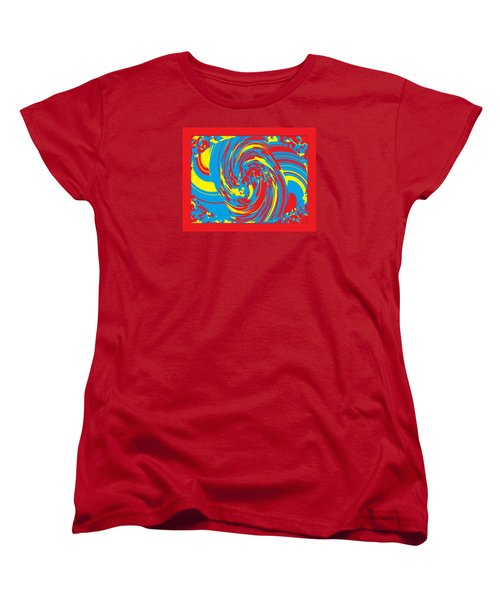 Women's T-Shirt (Standard Cut) featuring the painting Super Swirl by Catherine Lott