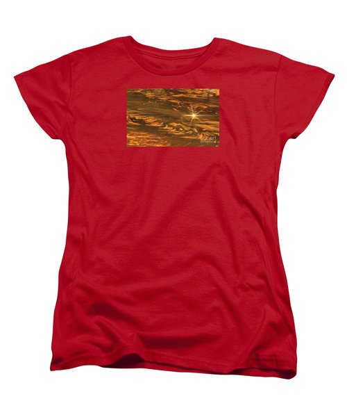 Women's T-Shirt (Standard Cut) featuring the photograph Swirling Autumn Leaves by Geraldine DeBoer