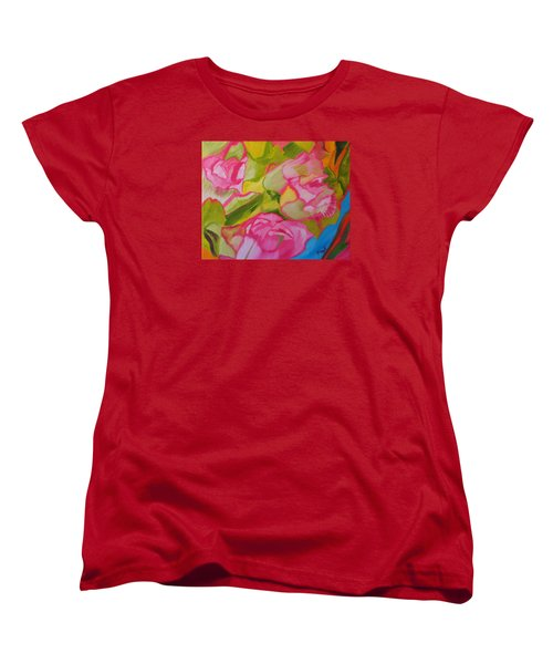 Symphony Of Roses Women's T-Shirt (Standard Cut) by Meryl Goudey